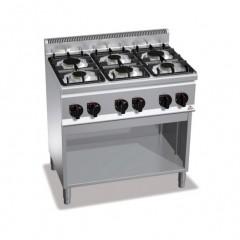 Kuchnia gazowa 6-palnikowa z szafką 18,6kW G6F6M