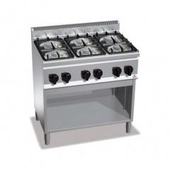 Kuchnia gazowa 6-palnikowa z szafką 28,5kW G6F6MPW