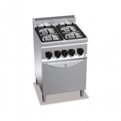 Kuchnia gazowa 4-palnikowa z piekarnikiem GN 1/1 22,5kW G6F4PW+FG1
