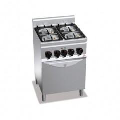 Kuchnia gazowa 4-palnikowa z piekarnikiem elektrycznym GN 1/1 19kW G6F4PW+FE1