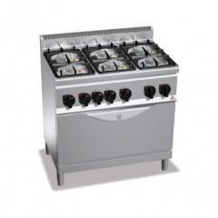 Kuchnia gazowa 6-palnikowa z piekarnikiem 34,5kW G6F6PW+T