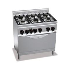 Kuchnia gazowa 6-palnikowa z piekarnikiem 18,6kW G6F6+TE