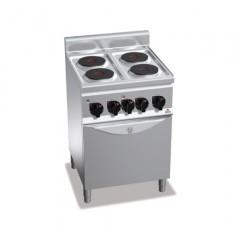 Kuchnia elektrycza 4-płytowa z piekarnikiem GN 1/1 11kW E6P4+FE1
