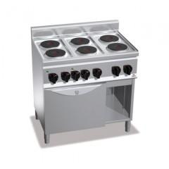 Kuchnia elektryczna 6-płytowa z piekarnikiem GN 1/1 i szafką 15kW E6P6+FE1