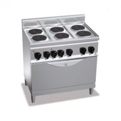 Kuchnia elektryczna 6-płytowa z piekarnikiem GN 1/1 17,2kW E6P6+TE